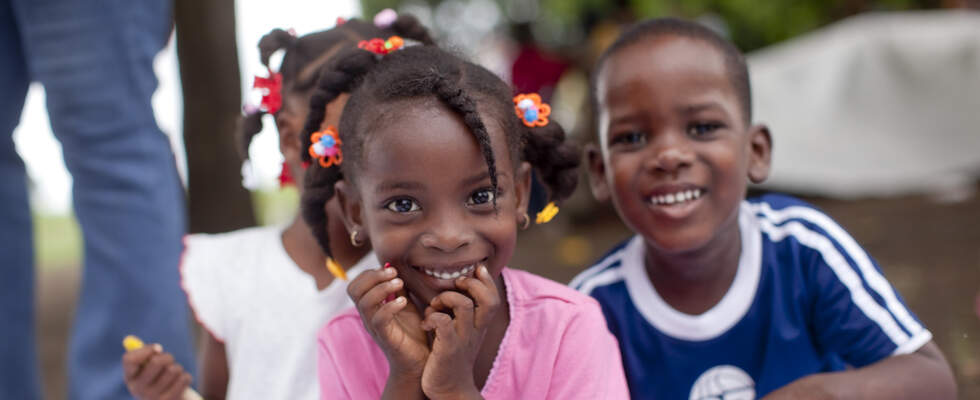 Children in a Kindernothilfe-project in Haiti. (Source: Jakob Studnar)