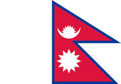 "Flagge Nepal (Quelle: ""Flag of Nepal"" von Drawn by User:Pumbaa80, User:Achim1999 - Constitution of The Kingdom of Nepal, Article 5, Schedule 1 [1]. Lizenziert unter Gemeinfrei über Wikimedia Commons - http://commons.wikimedia.org/wiki/File:Flag_of_Nepal.svg#/media/File:Flag_of_Nepal.svg)"