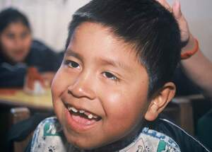 A Bolivian boy with a disability. (Source: Jürgen Schübelin)