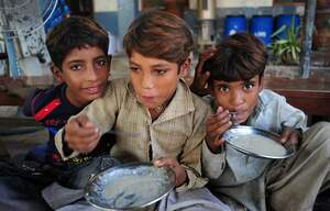 Three boys in Pakistan. (Source: Hasnain Kazim)